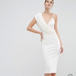 ASOS Tall Cowl Front Crepe Dress